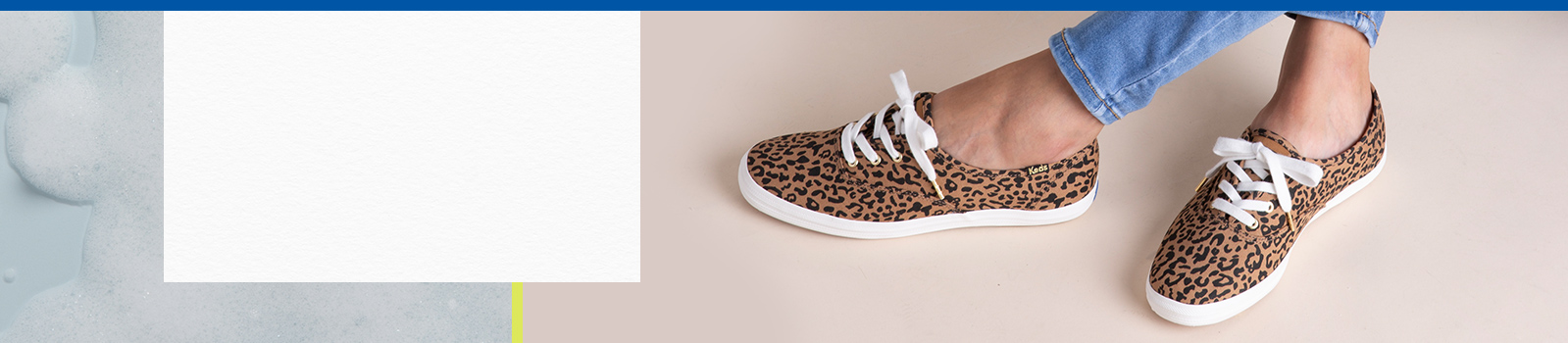 Women's legs wearing Keds Animal Print Washable Sneakers