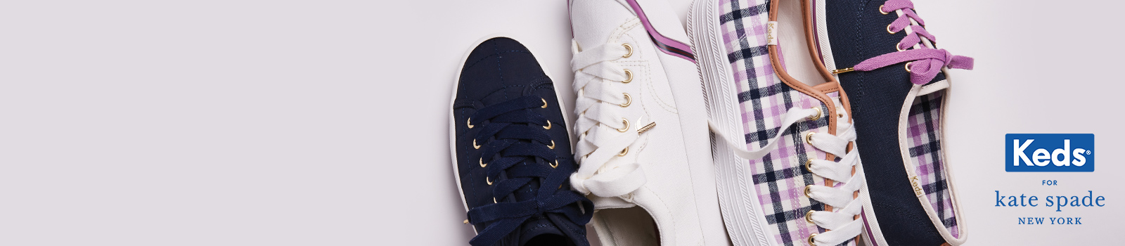 Collection of KSNY shoes on a white background