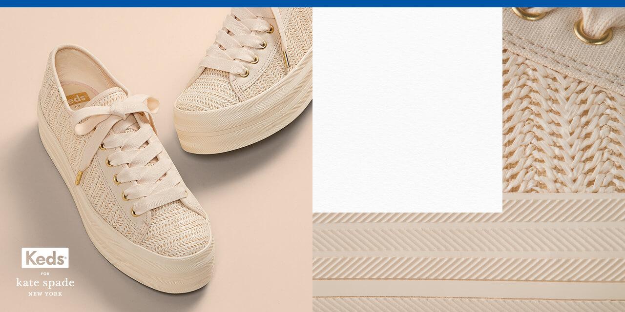 White Keds tennis shoes.